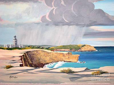 Cabo Rojo Lighthouse Puerto Rico  Print by Matty Dreadlocks