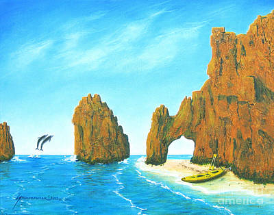 Baja California Painting - Cabo San Lucas Mexico by Jerome Stumphauzer