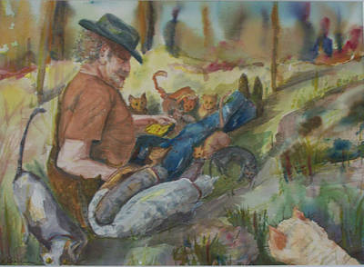 Caboodle Ranch Cats Art Print by Barbara McGeachen