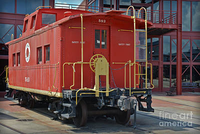 Express Way Photograph - Caboose 583 by Gary Keesler
