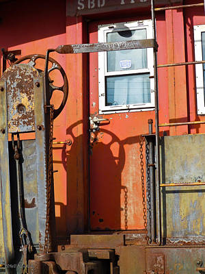 Photograph - Caboose In The Sun by Nick Kirby