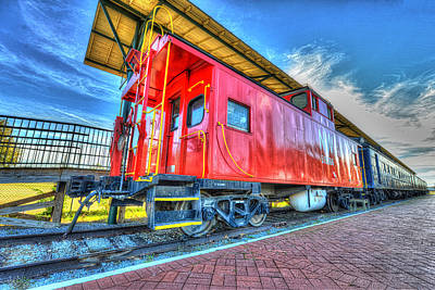 Caboose For Locomotive No. 1134 Portsmouth Va Art Print