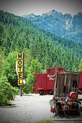 Photograph - Caboose Motel by Holly Blunkall