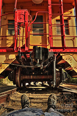 Photograph - Caboose On The Loose by James Eddy