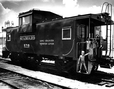 Euphoria Photograph - Caboose Rail Car by Retro Images Archive