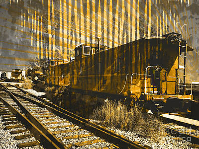 Old Caboose Photograph - Caboose by Robert Ball