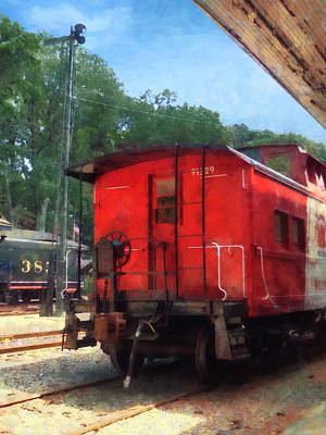 Photograph - Caboose by Susan Savad