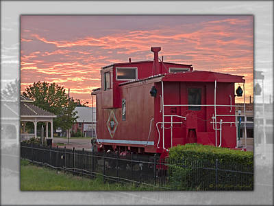 Photograph - Caboose  by Walter Herrit