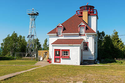 Photograph - Cabot Head Lighthouse Bruce Peninsula Ontario Canada by Marek Poplawski