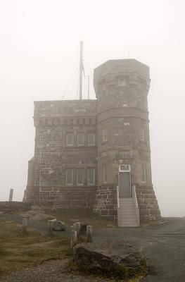 Cabot Tower In The Fog. Newfoundland. Art Print by Fernando Barozza