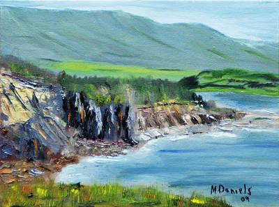 Art Print featuring the painting Cabot Trail Coastline by Michael Daniels