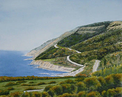 Cabot Painting - Cabot Trail by Sheryn Johnson