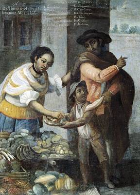 Cabrera, Miguel 1695-1768. Castes. From Art Print