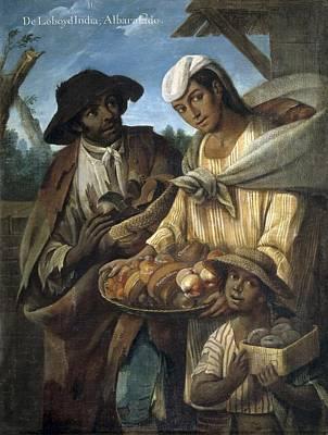 Cabrera, Miguel 1695-1768. De Lobo Y De Print by Everett