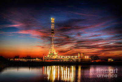 Oil Rig Photograph - Cac001-11 by Cooper Ross
