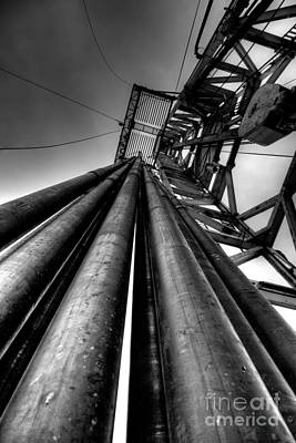Oil Rig Photograph - Cac001bw-14 by Cooper Ross