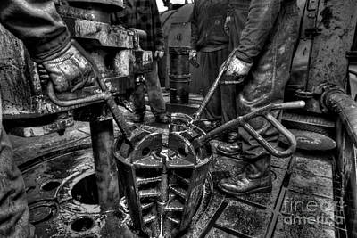 Oil Rig Photograph - Cac001bw-19 by Cooper Ross