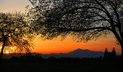 Logan Temple Photograph - Cache Valley Sunset by Brandyn King
