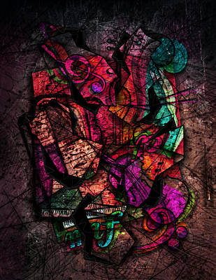 Abstract Music Digital Art - Cacophony In Z Minor by Gary Bodnar