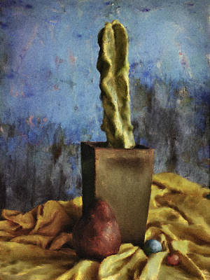 Painting - Cacti And Pear by Sandra Selle Rodriguez