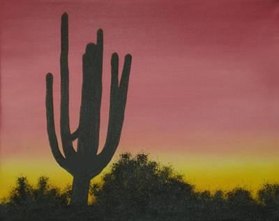 Cactus At Dawn Art Print by Aaron Thomas