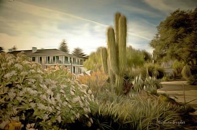 Monterey Wharf Painting - Monterey California Cactus Garden by Barbara Snyder