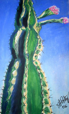 Painting - Cactus Bloom by Michael Foltz