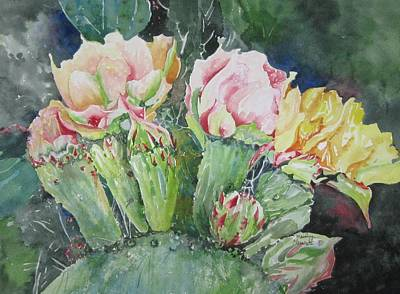 Painting - Cactus Blooms by Marilyn  Clement
