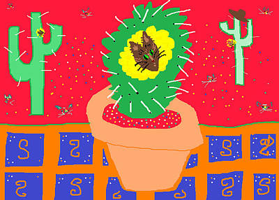 Painting - Cactus Flower by Anita Dale Livaditis