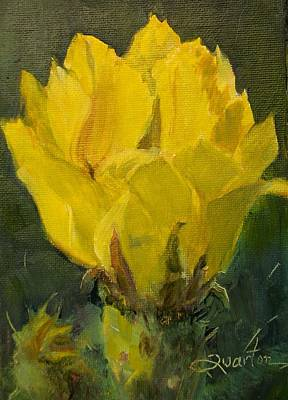 Painting - Cactus Flower by Lori Quarton