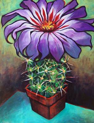 Painting - Cactus Flower by Susan Santiago