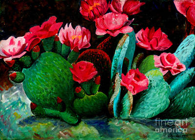 Painting - Cactus Flowers by Genevieve Esson