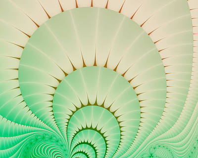 Digital Art - Cactus Fractal by Fran Riley