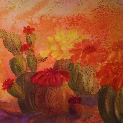 Painting - Cactus Garden - Square Format by Ellen Levinson