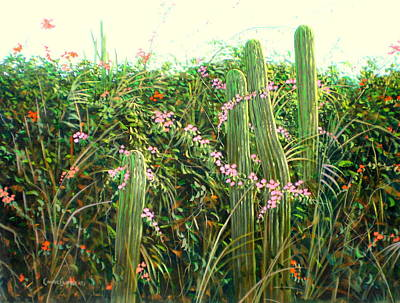 Wall Art - Painting - Cactus Garden by Chris MacClure