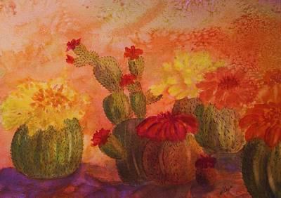 Painting - Cactus Garden by Ellen Levinson