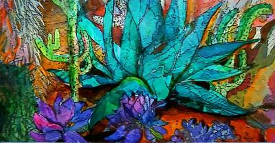Cactus Garden Original by Mindy Newman