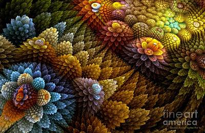 Digital Art - Cactus Garden by Sandra Bauser Digital Art