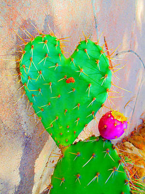 Mixed Media - Cactus Heart by Michelle Dallocchio