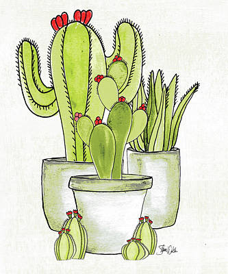 Succulents Painting - Cactus I by Shanni Welsh
