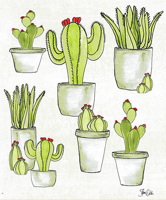 Succulents Painting - Cactus II by Shanni Welsh