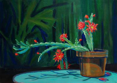 Painting - Cactus In Bloom 1 by Dan Redmon