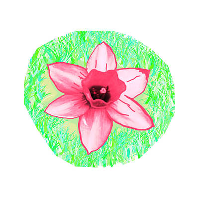 Cactus Pink Flower  Created By Navinjoshi Artist Art Print
