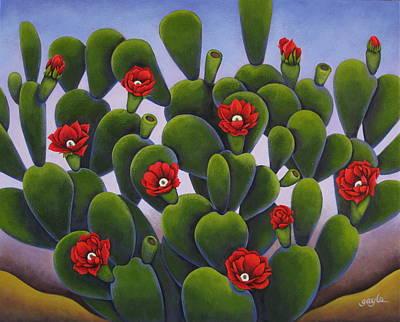 Cactus Roses Art Print
