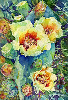 Prickly Pear Painting - Cactus Splendor II by Hailey E Herrera