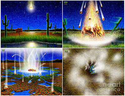 Digital Art - Cactus Town Story Board Panel 1 by Cristophers Dream Artistry