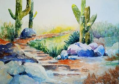 Painting - Cactus Trail by Marilyn  Clement