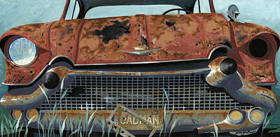 Rusty Cars Wall Art - Painting - Cad Man by John Wyckoff