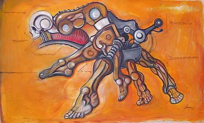 Cadaver Feet Project Art Print by Jose Gonzalez Lanza