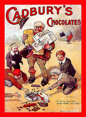 Cadburys Chocolates Ad Poster Art Print by Marvin Blaine